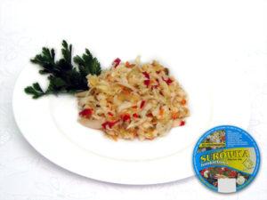 Chinakohl, saure Gurke, eingelegte Paprika, Porree, Möhren, Zusatzstoffe und Gewürze süß-sauer -  bunter Salat, fein , mit süß-saurem Geschmack