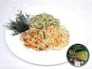 Jüdischer Salat,  Frühlingssalat, Firmensalat Weißkohl, Rotkohl, Möhren, Porree, Zwiebel, saure Gurke, Apfel, Sellerie, Zusatzstoffe und Gewürze